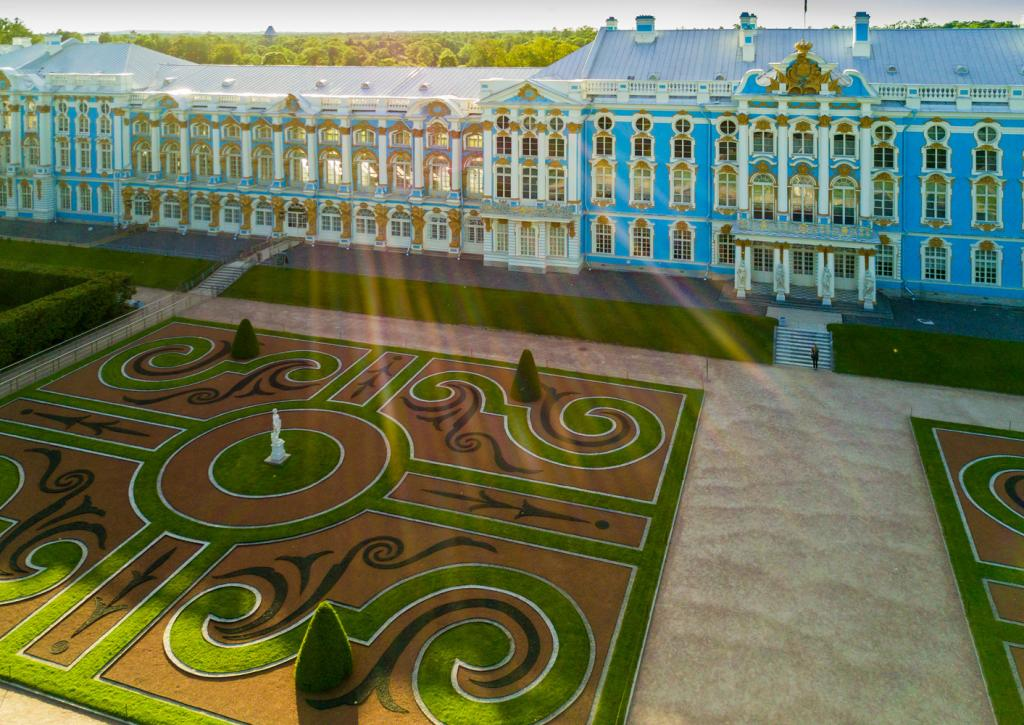 View of Parterres and Catherine Palace