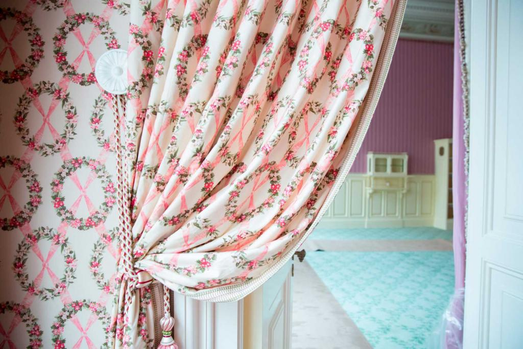 Imperial Bedroom's door and window treatments
